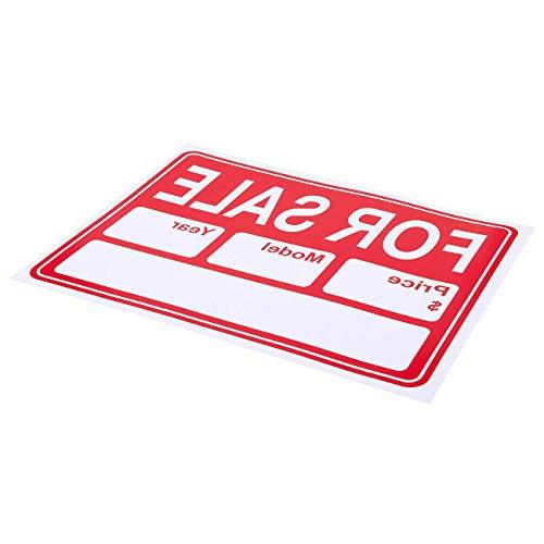 6-Piece for - Signs, Sale Signs, Car Sale, and 15.7 x