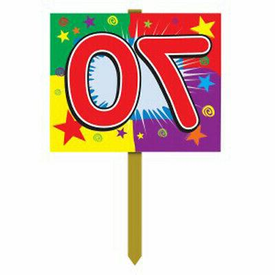 70 Birthday Yard Sign Party Accessory