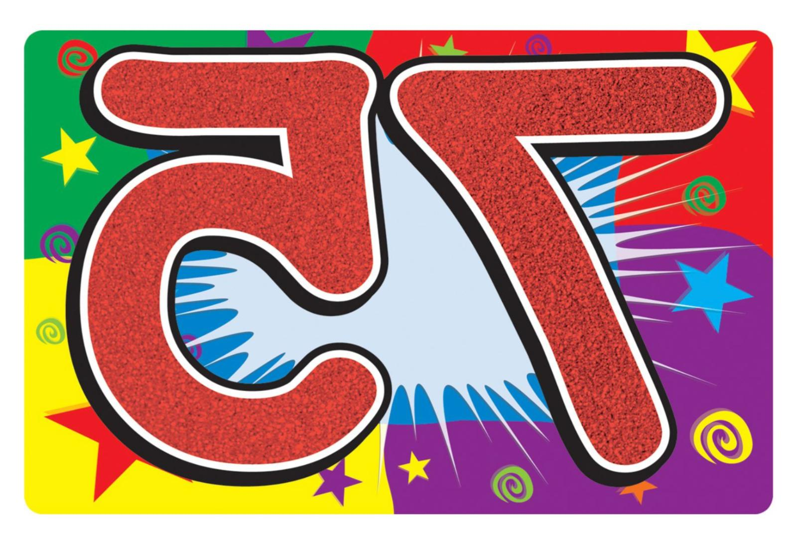 75th birthday sign for yard or party