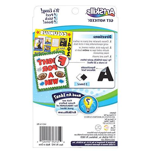ArtSkills Letters and Numbers, and 0-9, Assorted, Black 310-Count