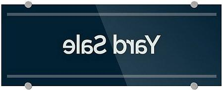 CGSignLab |Yard Sale -Basic Navy 3mm Premium Aluminum Sign w