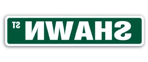 Decorative Signs with Sayings Shawn Street Sign Name Kids Ch