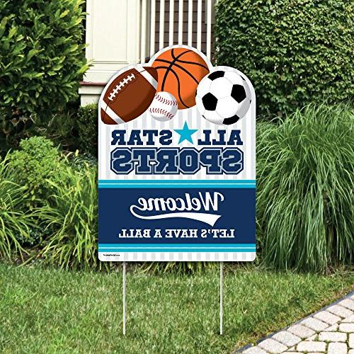 Go, Fight, Win - Sports - Party Decorations - Baby Shower or