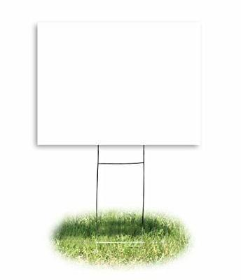Headline 4781 Yard Sign, Blank, White, Inches by 24