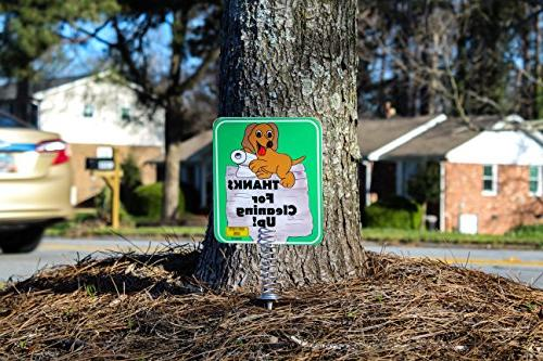 IMPROVED - Sign Yard, Dog Poop are sides made with Materials | Tell FOR Keeps Dogs From Pooping or On