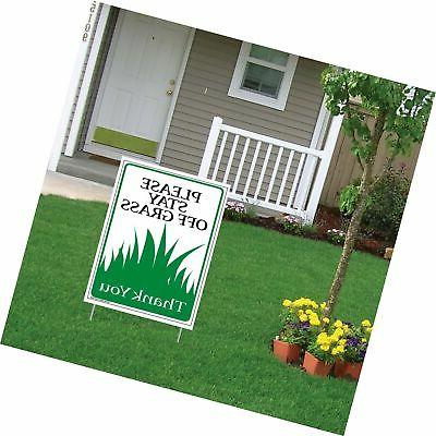 """""""PLEASE STAY OFF THE GRASS"""" - 18x24 Yard Sign"""