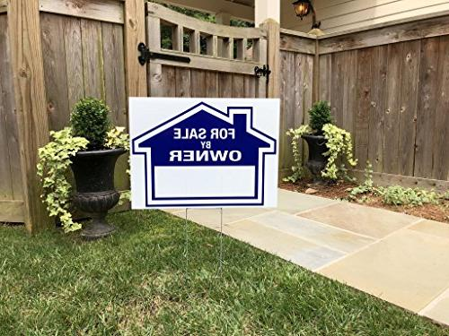 """Sam's By Owner - Double Signs and 3 Duty Blue 24"""" 12"""" X 18"""" Arrows - - Premium"""