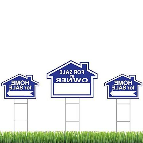 """Sam's By - Double Signs Duty H-Stakes - Property Signs 24"""" 18"""" - FSBO Sign - Premium Signs"""