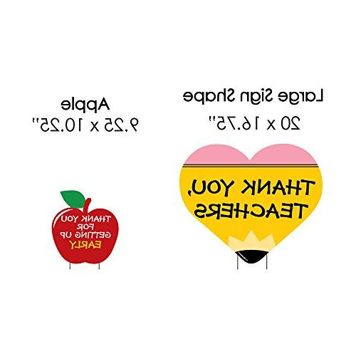 Teacher Back to & Outdoor - Yard Signs - Set of 8