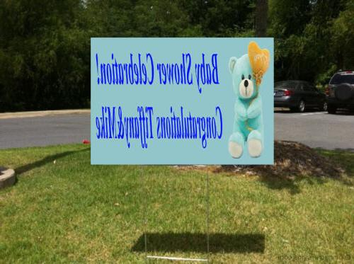 Baby Message Yard Sign /FREE
