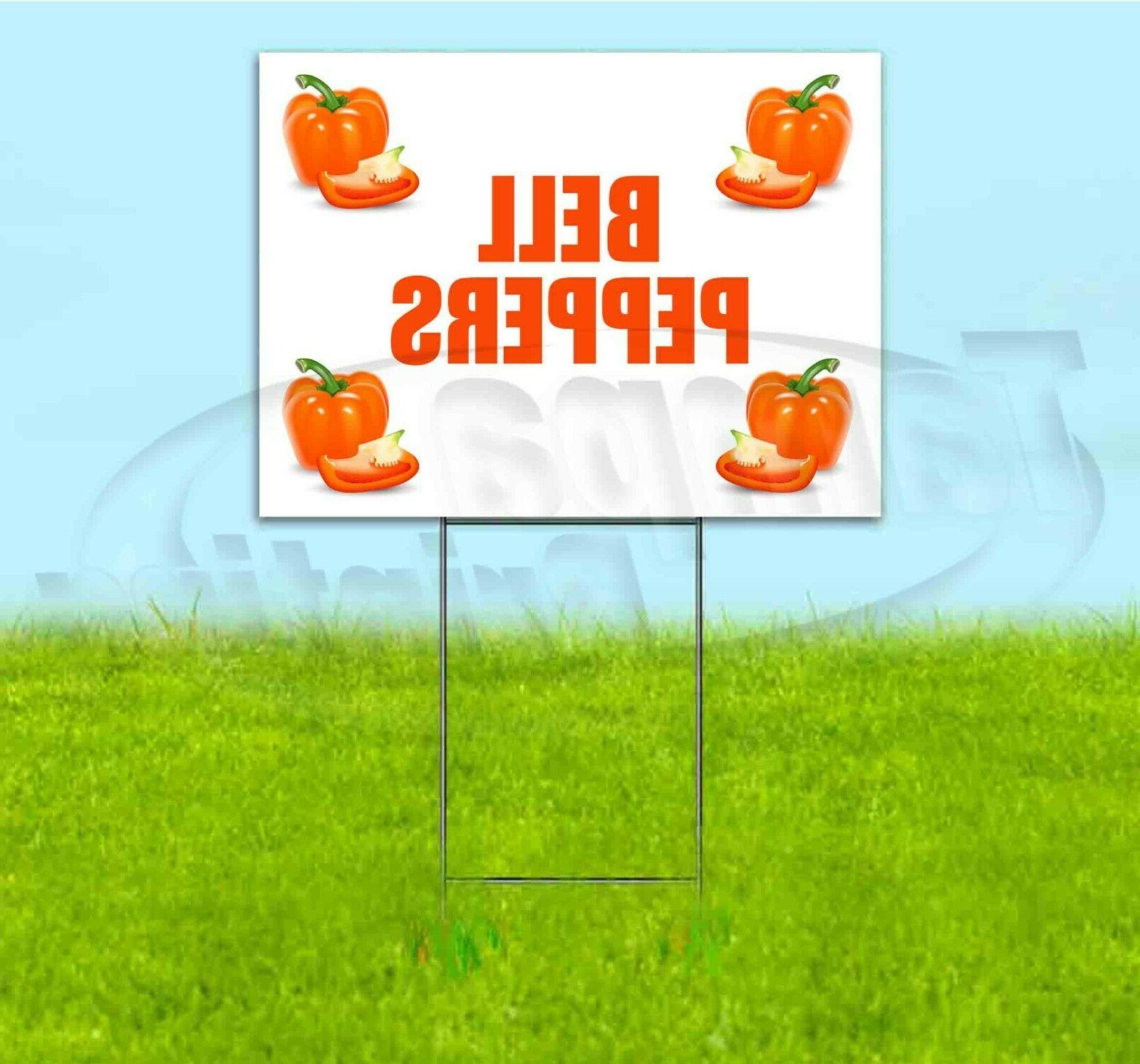 bell peppers 18x24 yard sign with stake