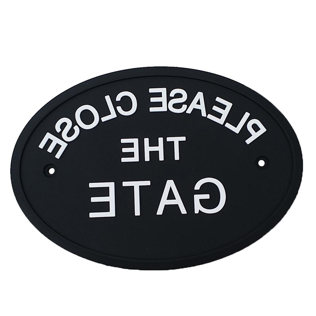 Black Wall House <font><b>Sign</b></font> Garden Fence Signs Plaques with Screws