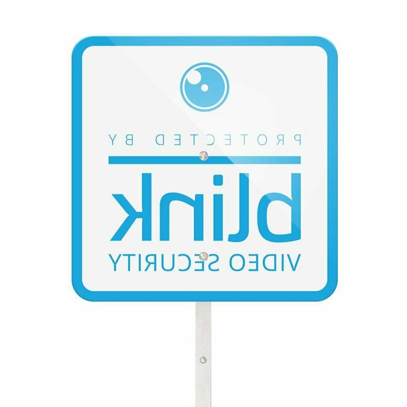 blink yard sign with two window decals