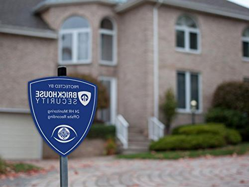 Brickhouse Blue Home Surveillance w/Stake Stickers