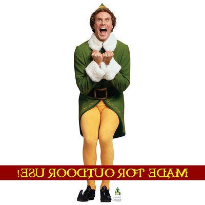 BUDDY Elf Plastic Outdoor YARD SIGN Standup Standee Weather