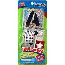 Bulk Buy: Artskills  Letters, Numbers & Shapes Stencil Kit 6