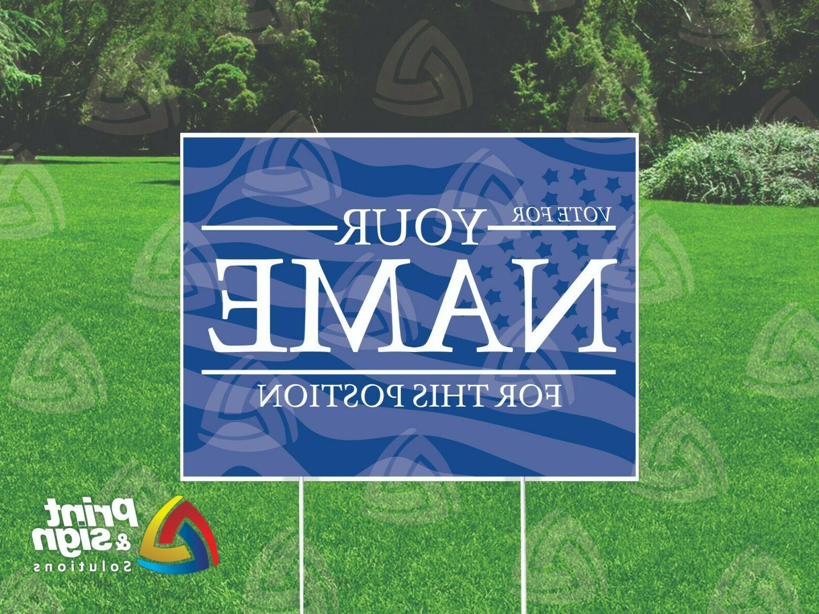 campaign vote custom yard sign double sided