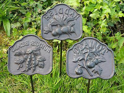 Cast Iron Metal Garden Sign Set/12 Yard Decor