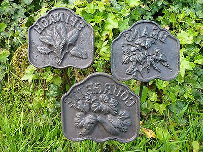 Cast Iron Vegetable Garden Marker Sign Set/12 Home