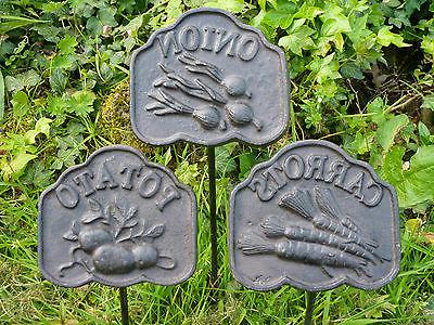 Garden Marker Sign Set/12 Stake Yard Home Decor