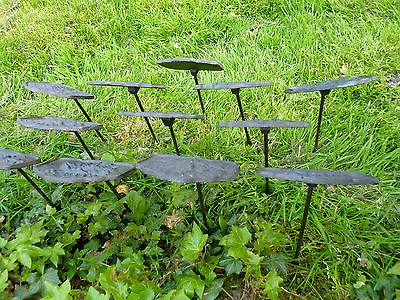 Cast Garden Set/12 Stake Decor