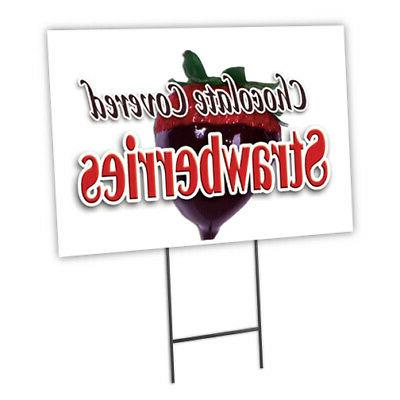 chocolate covered stra yard sign and stake