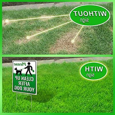 """Signs Authority After Dog x 9"""" Yard with H-..."""
