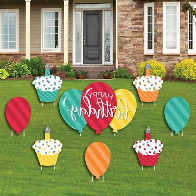 Colorful Cupcake & Sign & Outdoor Lawn Decor- Ct