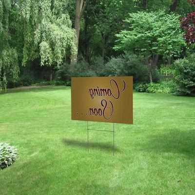 Coming Lawn Decoration Corrugated Plastic Yard Sign