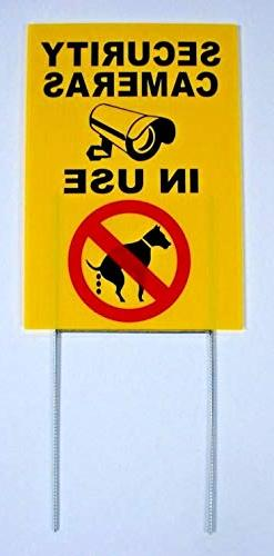 Coroplast Sign - Plastic Sign - Security Cameras in USE - NO