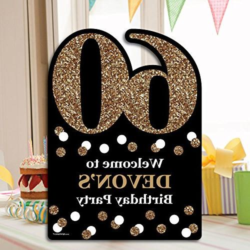 Big of Custom Adult 60th - Gold Decorations Personalized Welcome