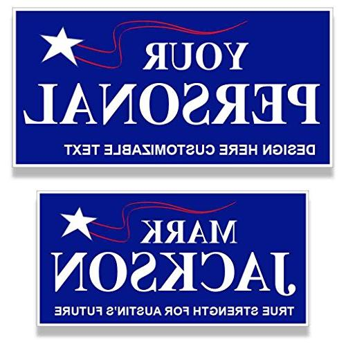 custom political yard sign