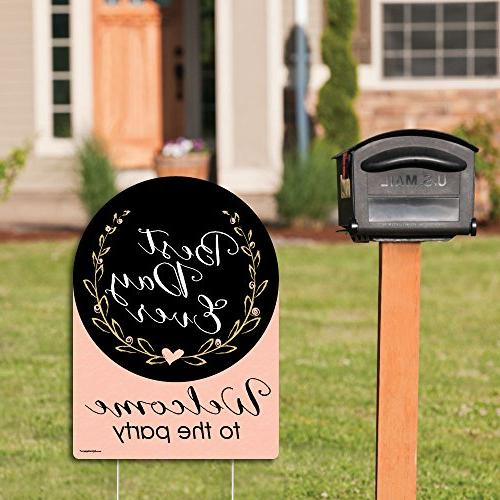 Big Happiness Best Day Ever Party Decorations - Bridal Shower Sign