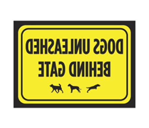 dogs unleashed behind gate print