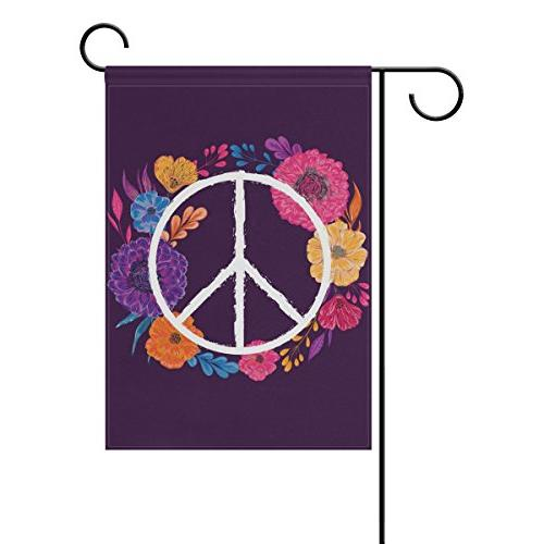 double sided colorful peace sign