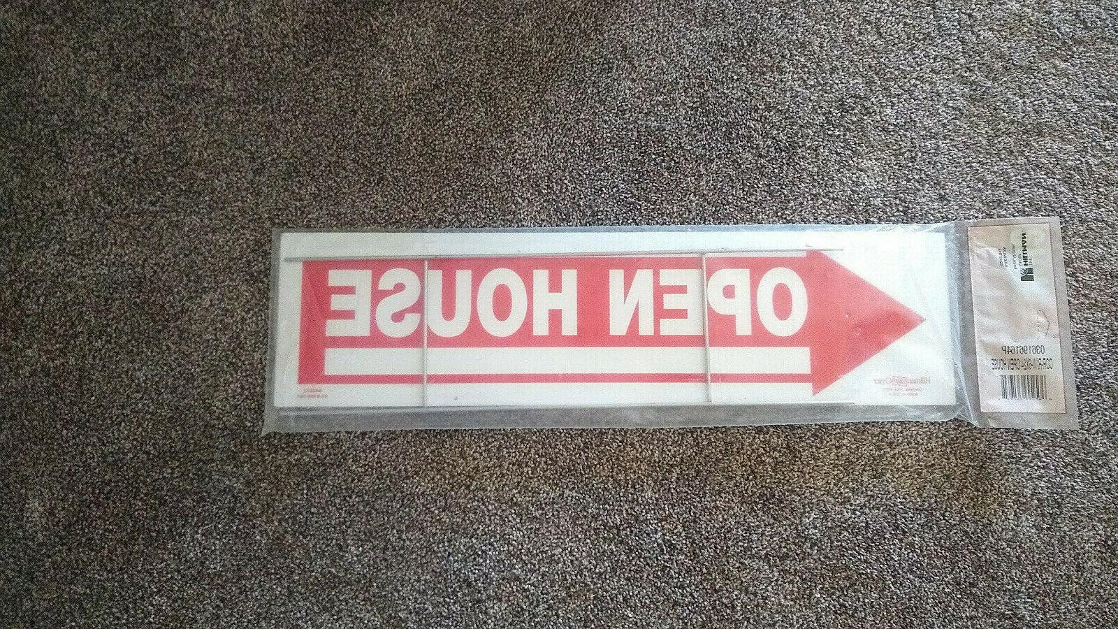 double sided open house arrow sign corrugated