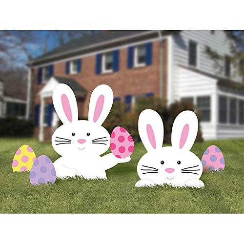 Easter Egg Hunt or Yard Includes Bunnies