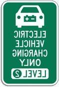Electric Vehicle Level 2 Charging Parking Sign, Funny Decora