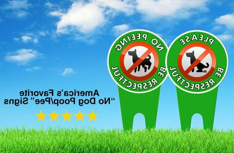 Extra Dog Signs | Stop Dogs from Pooping Your Lawn Sign Polit