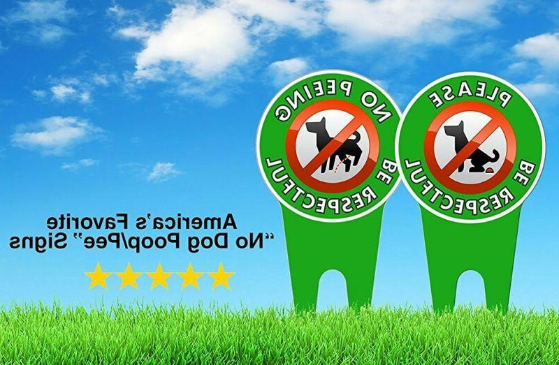 Extra Large No Dog Signs Stop Dogs from Pooping On Your Polit