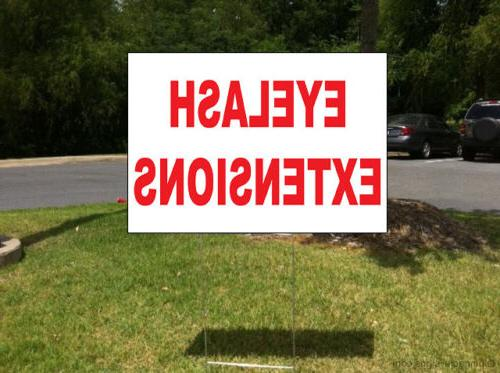 Eyelash Plastic Yard Sign /Free Stakes