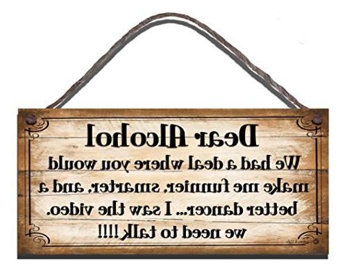 funny sign shabby chic wooden