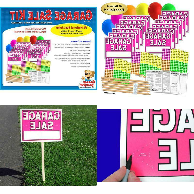 garage sale sign kit with pricing stickers
