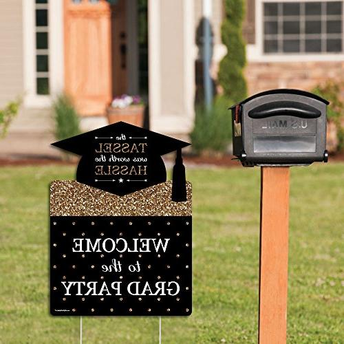 Big Dot of Gold - Graduation Party Welcome Yard