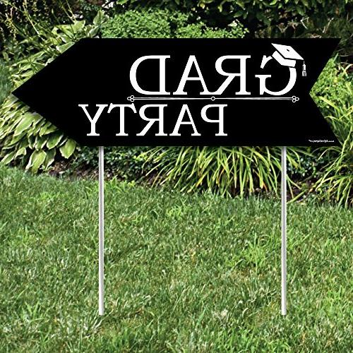 Big Graduation Party Sign Double Signs Set of 2