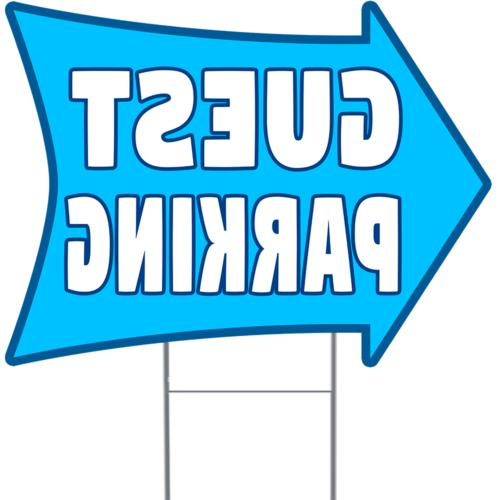 guest parking 2 sided arrow yard sign