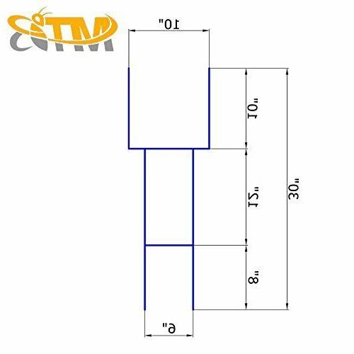"""H Frame Wire Stakes 30""""x10"""" 9ga Metal Duty,"""