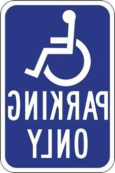 """Highway Traffic Supply Handicapped Parking Sign, 12""""L x 18""""W"""
