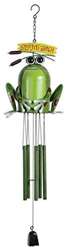 Sunset Vista Designs Happy Frog Wind Chime, 36