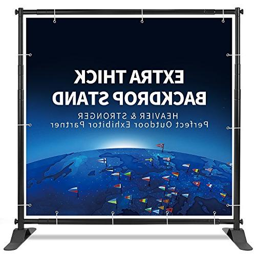 heavy duty backdrop banner stand